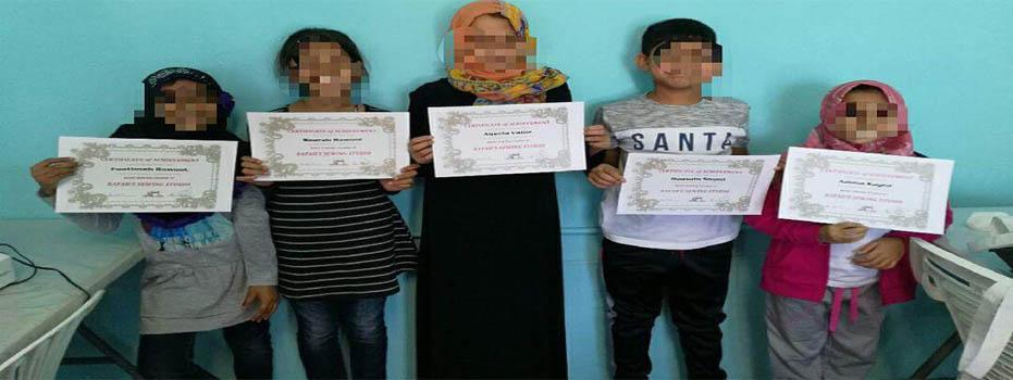 Rafah Sewing Kiddies Graduation